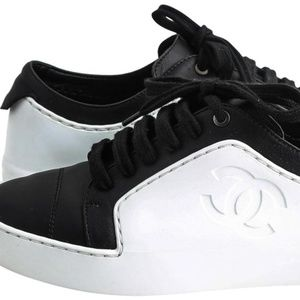 Chanel 17P Classic Two Tone Leather Tennis Sneaker